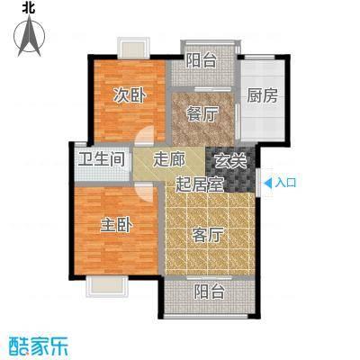 荣华水岸新城105.47㎡G标准层户型
