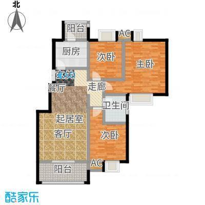 荣华水岸新城112.01㎡二期50#D标准层户型
