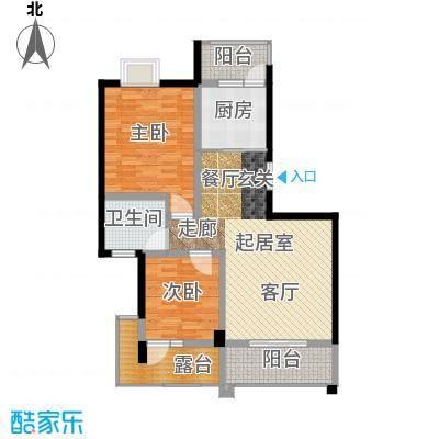 荣华水岸新城97.00㎡一期L标准层户型