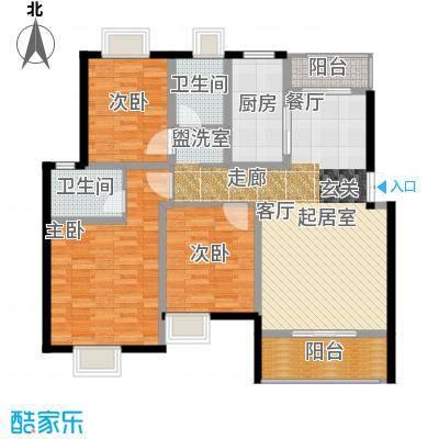 荣华水岸新城116.96㎡K标准层户型