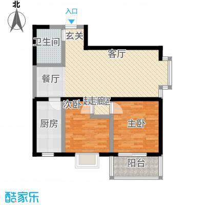 龙祥御湖89.40㎡B户型