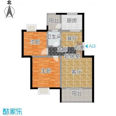荣华水岸新城101.84㎡J标准层户型