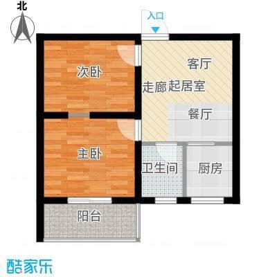 达成馨苑58.48㎡1号楼C户型