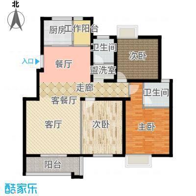 泰和御景豪庭127.00㎡2号楼F标准层户型