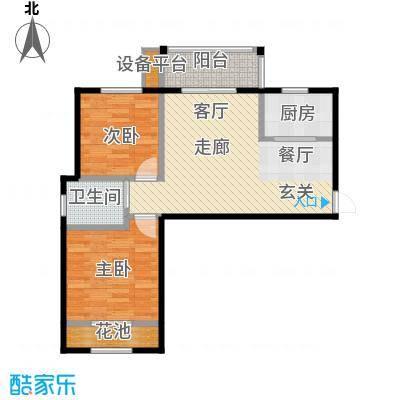 新福兴面孔公社78.24㎡新福兴・面孔公社9#B5户型