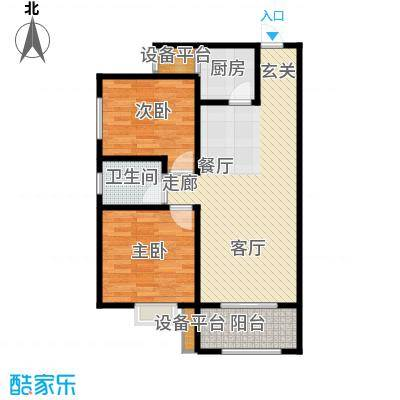 新福兴面孔公社87.04㎡新福兴・面孔公社9#东单元F12室户型