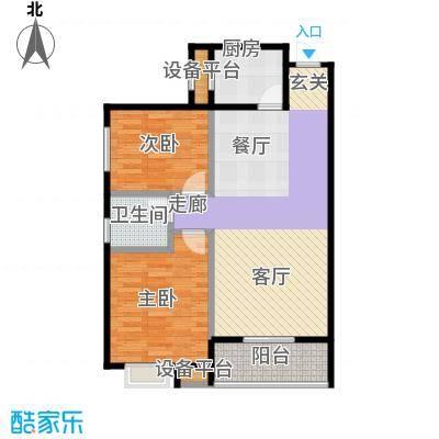 新福兴面孔公社87.77㎡新福兴・面孔公社B3户型