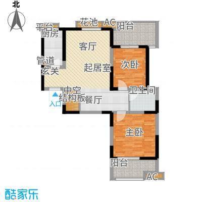 亿龙金河湾94.65㎡6#6C户型