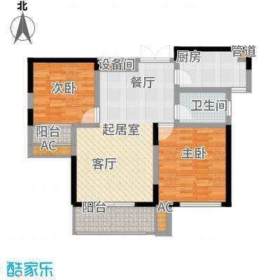 亿龙金河湾88.27㎡4#楼B户型