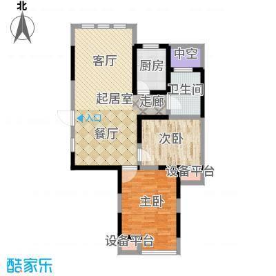中天锦庭88.30㎡6#楼C1户型