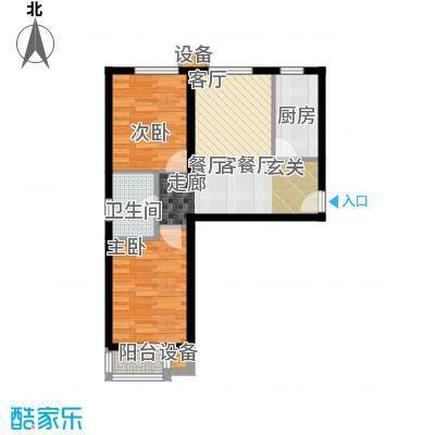 东风小区A1户型2室1厅1卫1厨