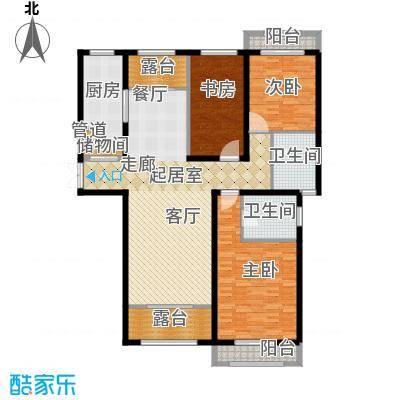 香江湾158.00㎡1号楼F2户型