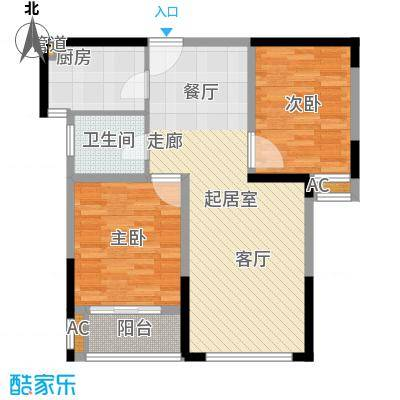大华曲江公园世家88.80㎡B1819号楼户型