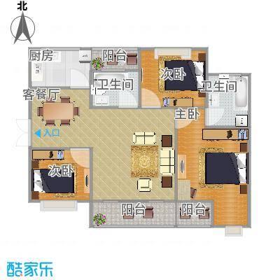 华屹锦城三室两厅求装修方案