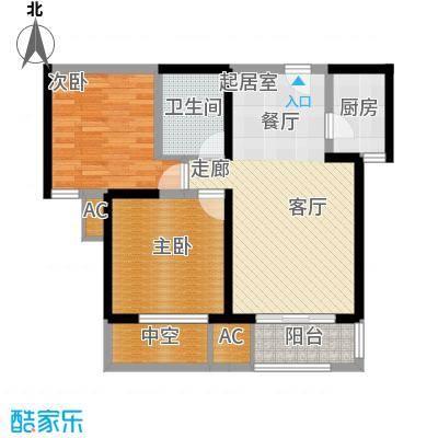 唐韵三坊84.14㎡三期14/15/18号楼奇数层B1户型