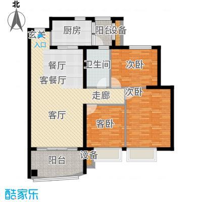 依云小镇福水园115.00㎡3面积11500m户型