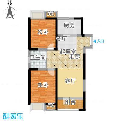 融科贻锦台102.00㎡精萃高层标准面积10200m户型