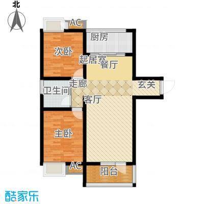 融科贻锦台104.00㎡精萃高层标准面积10400m户型