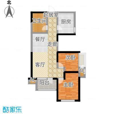 融科贻锦台96.00㎡精萃高层标准面积9600m户型