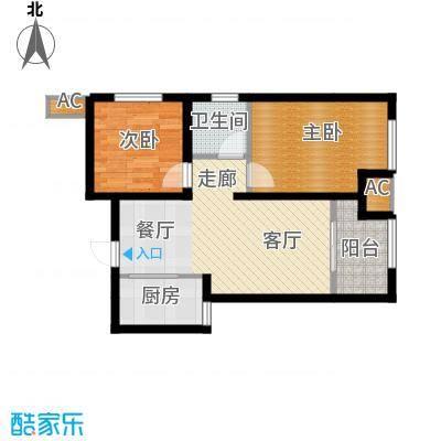 天朗蔚蓝东庭72.33㎡六号楼G'户型