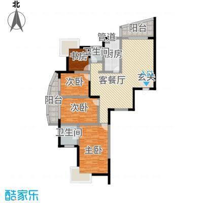 湖韵佳苑163.24㎡8栋B12面积16324m户型