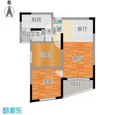 湖韵佳苑102.71㎡8栋B22面积10271m户型