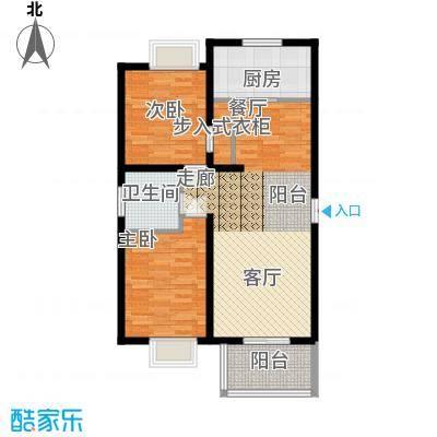 丽湾岛92.50㎡1#2#3#楼标准层户型
