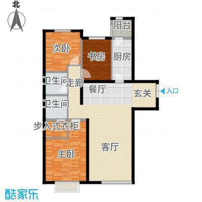 富力津门湖克拉公馆145.00㎡面积14500m户型
