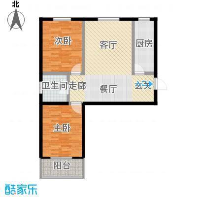 富力津门湖克拉公馆70.00㎡面积7000m户型