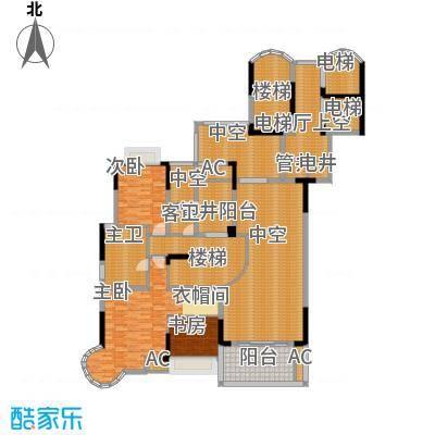 芙佳花园290.51㎡B-1复式上层面积29051m户型