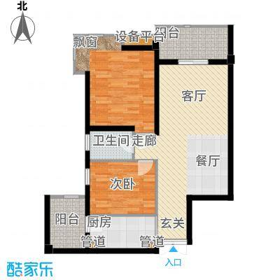 桔园成功苑82.00㎡面积8200m户型