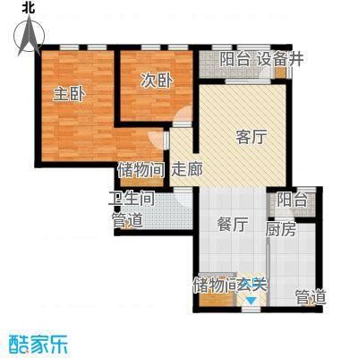 海河金湾公寓2-d(1)户型
