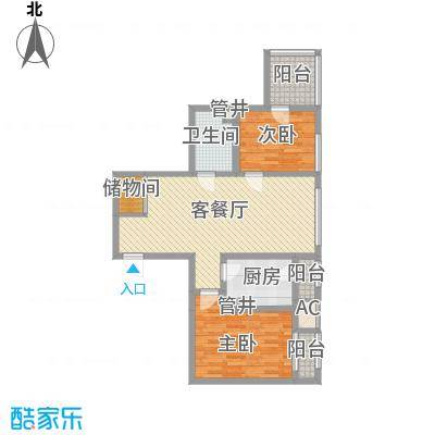 海河金湾公寓2-f(1)户型