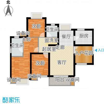 湘江世纪城赏江苑136.00㎡面积13600m户型