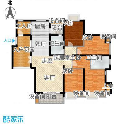 湘江世纪城赏江苑153.00㎡面积15300m户型