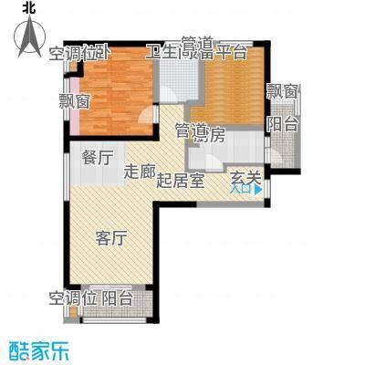 瞰海尚府93.43㎡一期4号楼标准层面积9343m户型