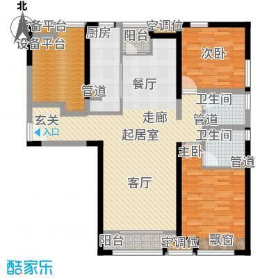 瞰海尚府118.21㎡一期4号楼标准层面积11821m户型