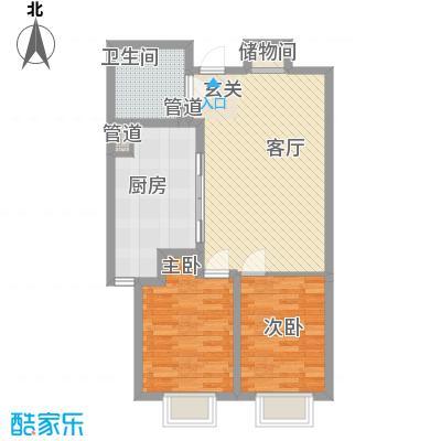 融创星美御93.38㎡1号楼标准层B面积9338m户型