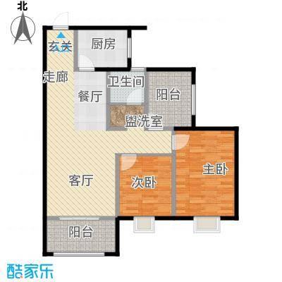 新福兴面孔公社97.42㎡新福兴・面孔公社9#东单元E12室户型