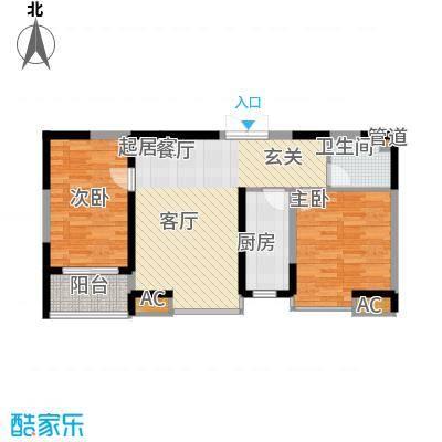 亿龙金河湾88.00㎡2#楼C户型