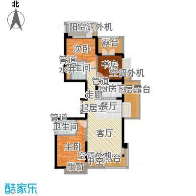 河东万达广场136.44㎡面积13644m户型