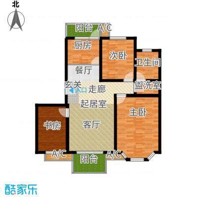 凤溪花中城114.55㎡B2面积11455m户型