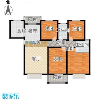 瑞江花园竹苑170.00㎡面积17000m户型