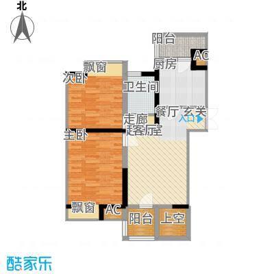 弘泽印象89.72㎡A-层2面积8972m户型