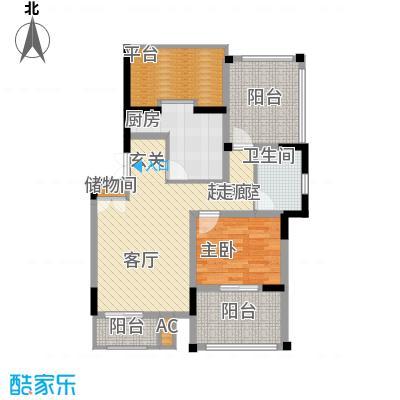 天江格调兰庭65.18㎡面积6518m户型