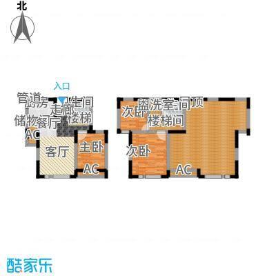 众里佰都110.00㎡一期12号楼16层面积11000m户型