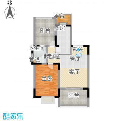 天江格调兰庭72.39㎡面积7239m户型
