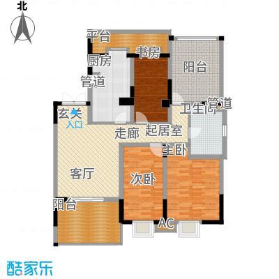 天江格调兰庭106.80㎡面积10680m户型