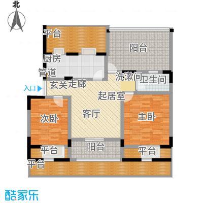 天江格调兰庭88.16㎡面积8816m户型