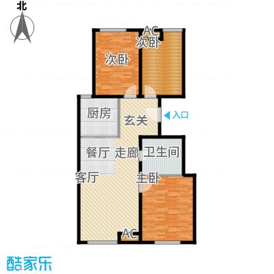 假日盈润园115.00㎡8号楼标准层中面积11500m户型